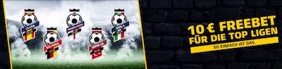 10 Euro von XTip für europäische Top-Ligen