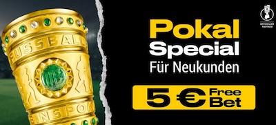 Bwin erhalten für Pokalfinal Wette eine 5 Euro Freebet