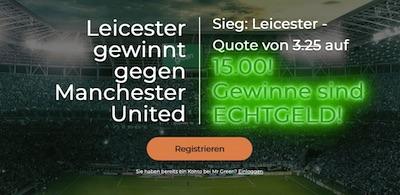 Wettquote 15.0 auf Leicester bei Mr Green