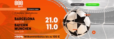 888sport Barca FC Bayern Quotenspecial wetten