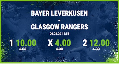 Top-Quoten bei Bet-at-home auf Bayer Leverkusen vs. Glasgow Rangers