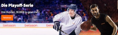 30.000 Euro Betsson Rangliste zu den NBA und NHL Playoffs