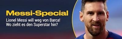 Bwin Special zum Wechsel von Lionel Messi