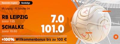 Quotenboost von 888sport zum Bundesliga-Duell RB Leipzig gegen Schalke 04