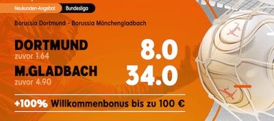 BVB Gladbach beste Quoten 888sport