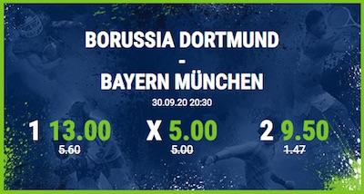 Bet at home enhanced odds auf FC Bayern - BVB im Supercup 2020