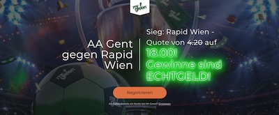 Mr Green Rapid Wien Gent verbesserte Quote wetten