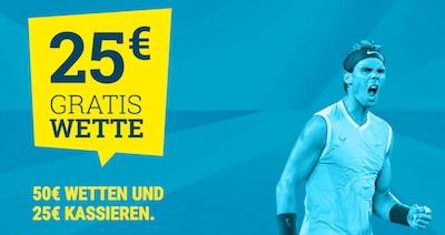 sportwetten.de 25 Euro Cashback Angebot zu den French Open 2020