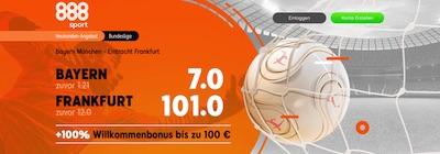 888sport Bayern Frankfurt Quotenboost wetten