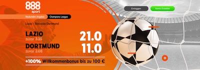 888sport Lazio BVB verbesserte Wettquoten