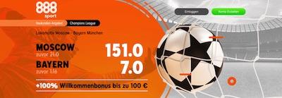 888sport Lok Moskau FC Bayern erhöhte Wettquoten