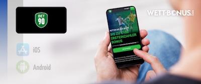 wett-bonus.com Grafik zur Bet90 App