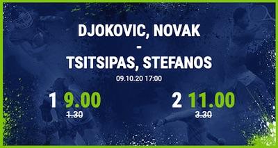 Djokovic gegen Tsitsipas mit Bet-at-home Boost