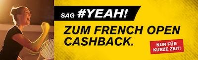Interwetten Cashback Aktion zum Viertelfinale der French Open 2020