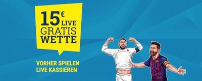Sportwetten.de El Clasico 15€ live Wettguthaben