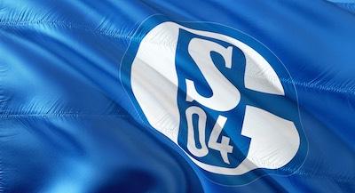 Flagge mit Schalke 04 Logo