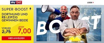 Sky Bet Super Boost CL Dortmund Leipzig verbesserte Quote wetten