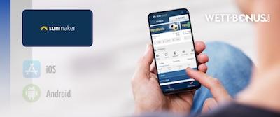 Grafik zur Sunmaker Sportwetten App
