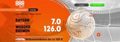 888sport Bayern München Werder Bremen verbesserte Quoten wetten