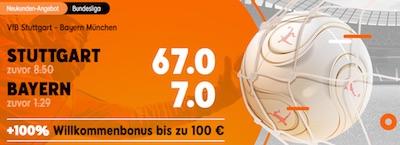 888sport Quotenboost auf Bundesliga-Spiel VfB Stuttgart gegen FC Bayern
