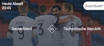 100 Prozent Betano Quotenschlüssel auf Deutschland vs. Tschechien