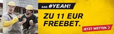 Interwetten 11 Euro Freebet zum Bundesliga-Schlager BVB gegen FC Bayern