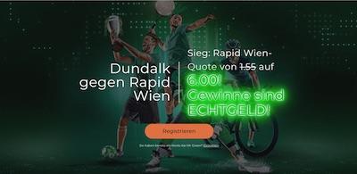 Mr Green Rapid Wien besiegt Dundalk verbesserte Quote wetten
