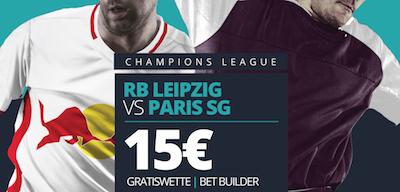 15 Euro Novibet Gratiswette zu RB Leipzig gegen Paris Saint-Germain
