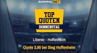 Admiralbet: Erhöhte Quote auf Hoffenheim-Sieg in Liberec