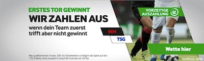 Betway 1. Tor gewinnt Leverkusen Hoffenheim