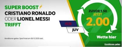 Betway Super Boost Quote Lionel Messi Cristiano Ronaldo trifft wetten