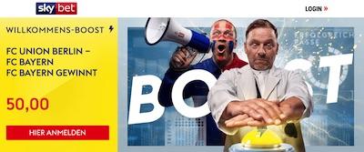 Sky Bet Mega Quote Sieg FC Bayern Union Berlin