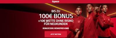 110€ Tipico Neukundenbonus