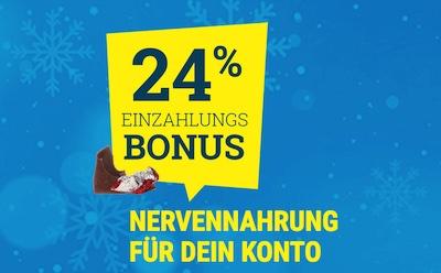 24 Euro Guthaben zu Weihnachten von sportwetten.de