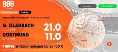 888sport Quotenboost Gladbach Dortmund