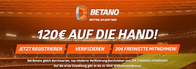 Betano Freebet 20 Euro