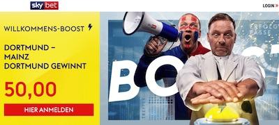 Sky Bet Willkommensboost Dortmund Mainz