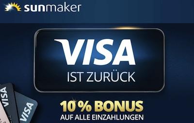 Sunmaker Visa Bonus