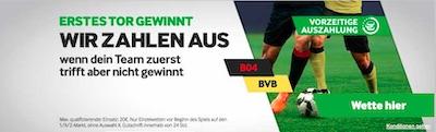 Erstes Tor gewinnt Betway Leverkusen Dortmund