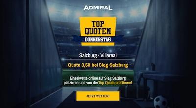 Admiral Top Quote Salzburg besiegt Villarreal wetten