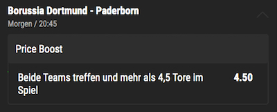 Bwin Priceboost DFB