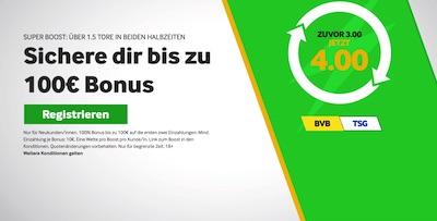 Betway Super Boost Wette Dortmund Hoffenheim