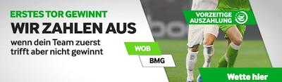 Betway 1. Tor gewinnt Aktion zu Wolfsburg gegen Gladbach