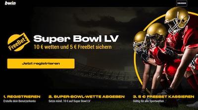 Bwin Super Bowl 55 gratis Guthaben wetten