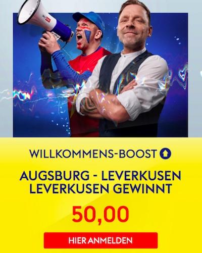Willkommensboost SkyBet Bayer vs. Augsburg