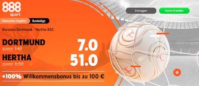 888sport Quotenboost zu Dortmund Hertha Berlin