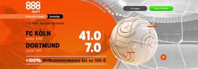 888sport Köln Dortmund erhöhte Quoten wetten