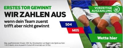 Betway Schalke 04 Mainz 05 Wette Erstes Tor gewinnt