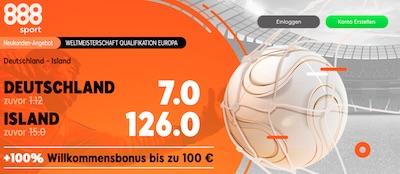 888sport mit verbesserten Quoten zu Deutschland - Island