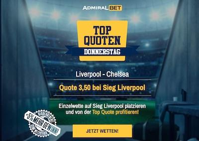 Top Quoten Donnerstag mit Liverpool - Chelsea